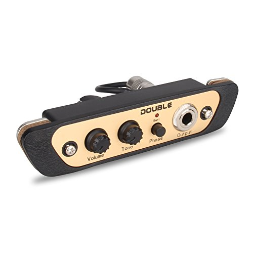 Mugig Cajon Pickup Weight 97g Acoustic Electric Transducer for Drum Box Accessories with Mini Wrench