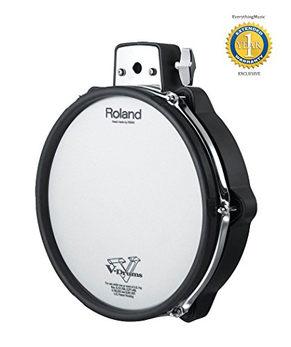 Roland PDX-100 V-Pad 10″ Mesh-head Drum Pad with 1 Year Free Extended Warranty