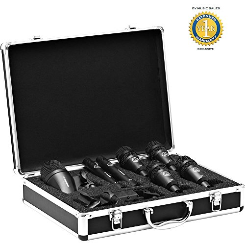 AKG Drum Set Session I High-Performance Drum Microphone Set (1x P2, 2x P17, 4x P4) with 1 Year Free Extended Warranty