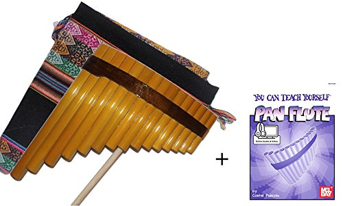 Beginners Set Bamboo Tunable Pan Flute + Tuning Stick + Case + Guide Book & Online Audio/Video