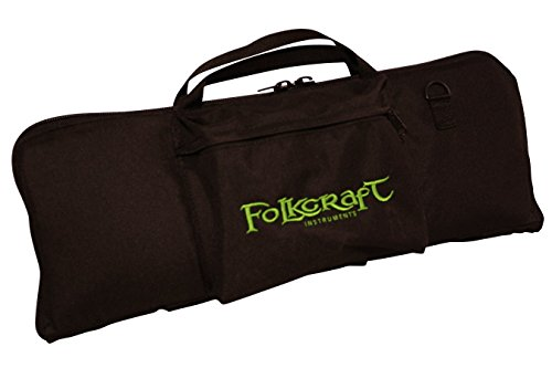 """Tin Whistle/Native American Flute Carrying Bag, Embroidered With """"Folkcraft Instruments"""" Logo"""