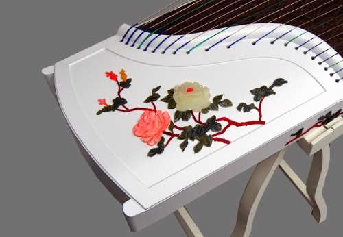Professional Performing White Piano Lacquer Coated Rosewood Guzheng Instrument