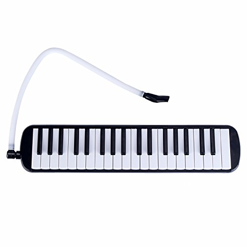 Mugig Performer 37 Keys Melodica with Carrying Case -black