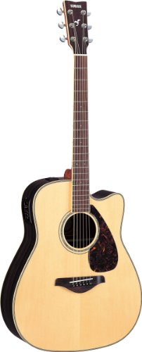 Yamaha FGX730SC Solid Top Acoustic-Electric Guitar – Rosewood, Natural