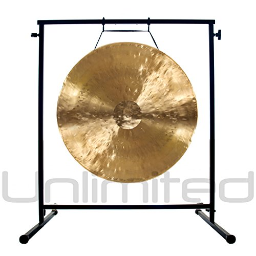 22″ White Gong on the Fruity Buddha Gong Stand
