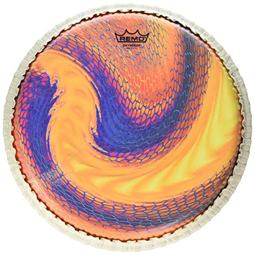 """Remo Conga Drumhead, Tucked, 12.5″, SKYNDEEP, """"Serpentine Day"""" Graphic"""