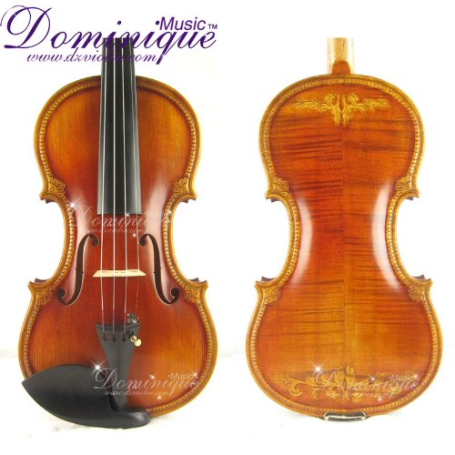 Crafted Scroll Royal Violin D Z Strad #512 with Bam Case and D Z Strad Violin Bow-Best Gift
