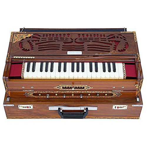 BBC – CALCUTTA HARMONIUM – 3 REED, 9 SCALE CHANGER – TUNED TO A440 – NATURAL COLOR – 3¾ OCTAVE – WITH COUPLER, WITH BOOK & BAG