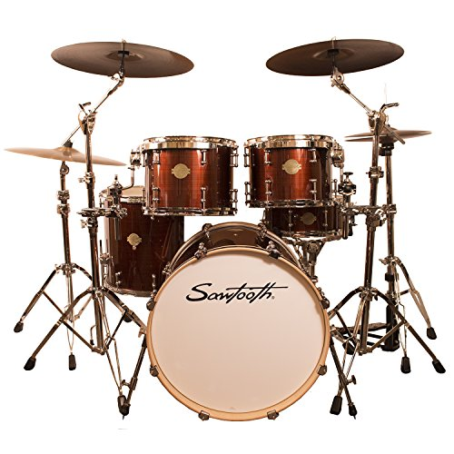 Sawtooth ST-COM-5PC-RS Command Series 5-Piece Drum Set Shell Pack, Red Streak