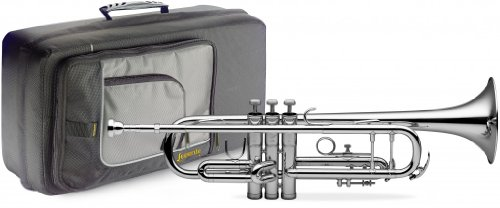 Levante LV-TR4201 Bb Trumpet with Soft Case – Silver Plated