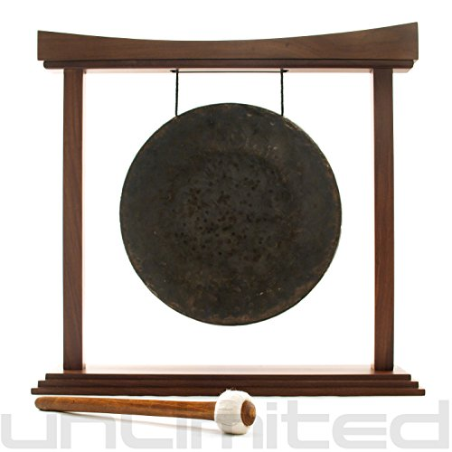 12″ Mother Tesla Gong on The Small Eternal Present Gong Stand