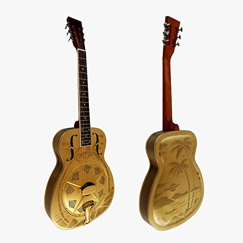 Style O Bell Brass Blues Slide Resonator guitar with Sandblasted