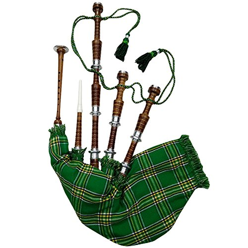 AAR Irish Heritage Bagpipe Rosewood with Silver Mounts Free Bagpipe Carrying Bag