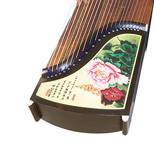 OrientalMusicSanctuary Exquisite Rosewood Guzheng – Beauty in Colors – Decorated Performance Guzheng KOTO Zither