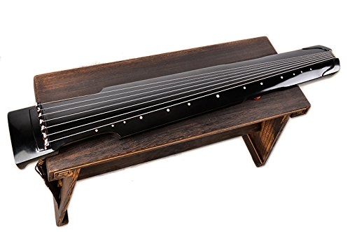 OrientalMusicSanctuary Lacquered Aged Paulownia Guqin – 7-string Chinese Zither (Zhongni Style)