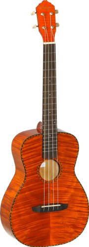 Ortega Guitars RUE14FMH RUE Series Baritone Ukulele with Flamed Mahogany Top/Sides and Pickup