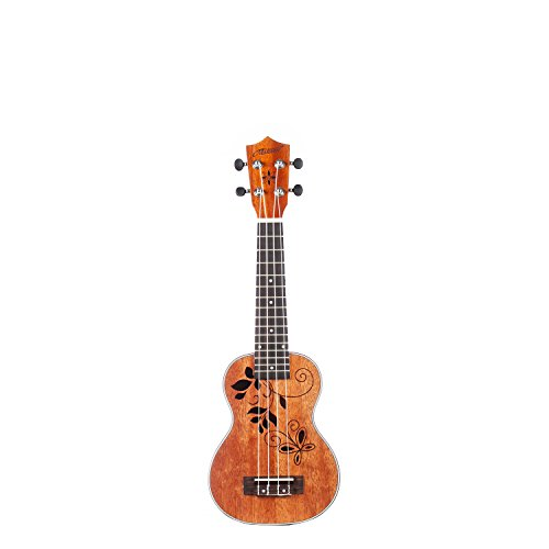 MAKANU Soprano Ukuleles Mahogany Tattoo Ukuleles with Gig Bag