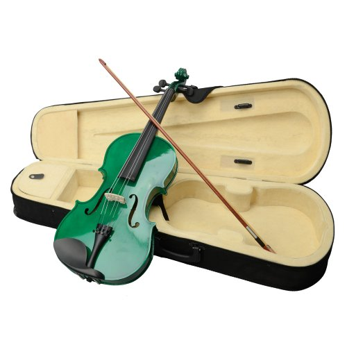 Glarry 16″ Basswood Acoustic Viola for Adults Student Starter Kit Case Bow Rosin (Green)