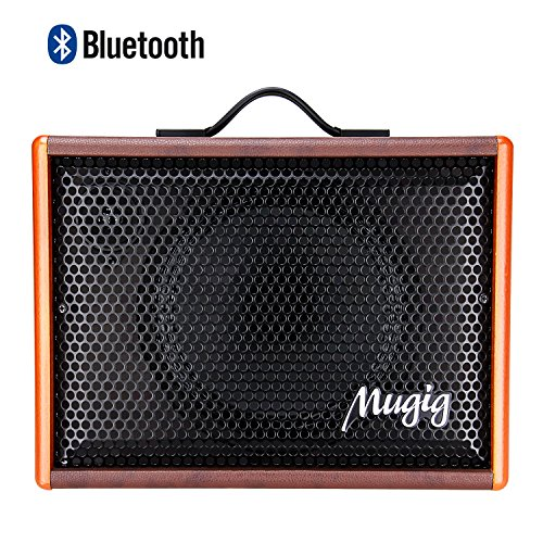 Mugig Acoustic Guitar Speaker Ukulele Amplifier Vocals Amplifier BM25, Portable Charger Outdoor Playing and Singing Bluetooth Speaker
