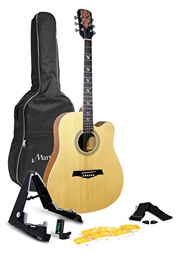 Martin Smith W-700-N-PK Acoustic Guitar Pack, Natural