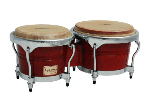 Tycoon Percussion 7 Inch & 8 1/2 Inch Concerto Series Bongos – Red Finish