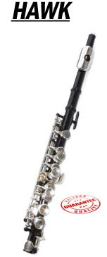 Hawk Black Colored Student Piccolo, WD-FP122-BK