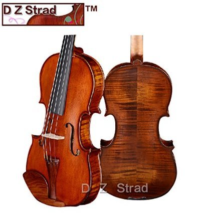 D Z Strad Violin 120 with Case, Bow, Shoulder Rest, and Rosin- 4/4