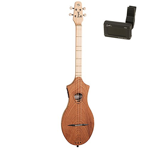 Seagull 042517 M4 Merlin Mahogany EQ Acoustic-Electric Dulcimer with Godin Tuner