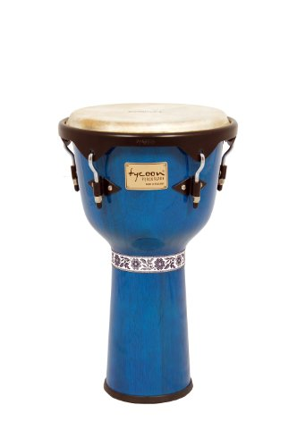Tycoon Percussion 12 Inch Artist Series Djembe – Blue Finish
