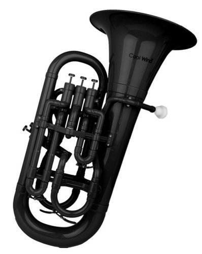 Cool Wind CEU-200 Series 4-Valve Plastic Euphonium Black