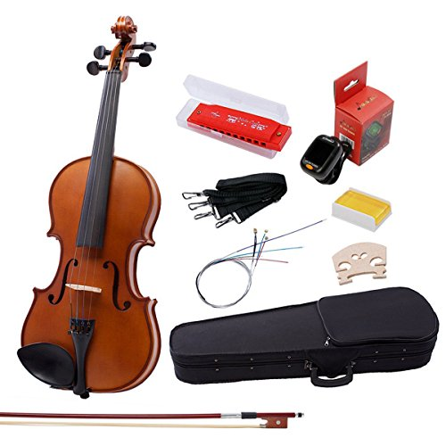 IMusic 4/4 Full Size Handmade Acoustic Violin Beginners Kit for Students, Matte Antique