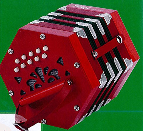 NEW Stagi B-1 Red and Green Anglo Concertina M 20 C-G Made in Italy