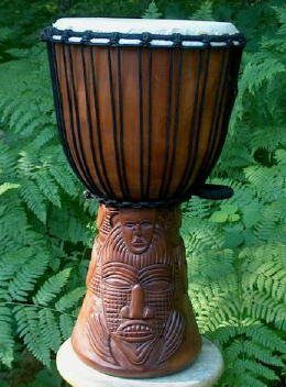 Tribal Moonmask Djembe Drum- 23″-24″ Tall, 12″-13″ Head, #2 Quality Discount Djembe Drum