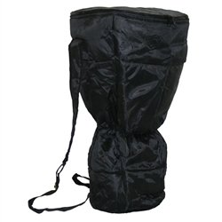X8 Drums & Percussion X8-BG-WP-L Waterproof Djembe Backpack Bag with Padded Black Nylon, Large