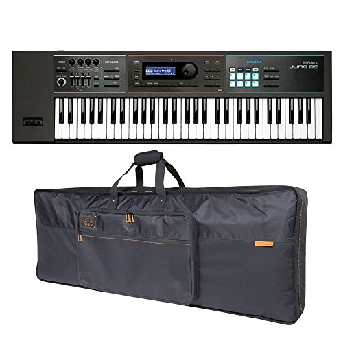 Roland JUNO-DS61 61-key Synthesizer and Premium Black Series Keyboard Bag Bundle