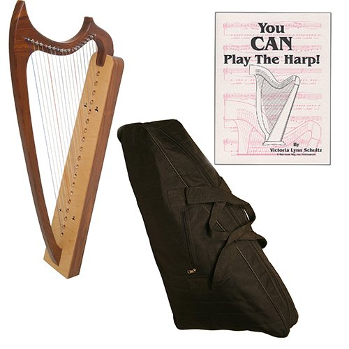 Early Music Shop 19-String Gothic Harp Deluxe Package w/Gig Bag, and Book