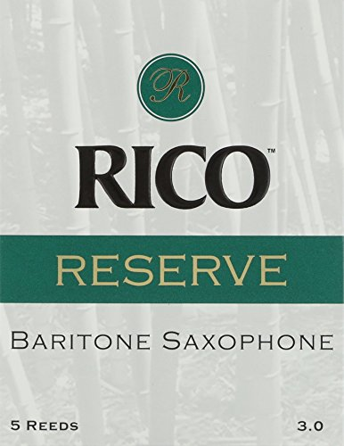 Rico Reserve Baritone Sax Reeds, Strength 3.0, 5-pack