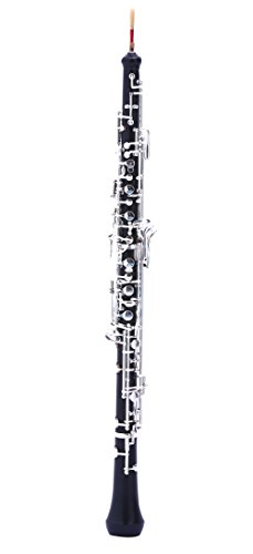 C Key Oboe with Composite wood Body Silver Plated Keys for Students & Beginners