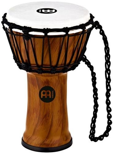 Meinl Percussion JRD-TA Synthetic Compact Junior Djembe, 7″ Diameter, Twisted Amber