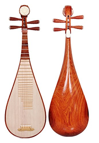 OrientalMusicSanctuary Concerto Soloist's Cambodian Dalbergia Rosewood Pipa – Chinese Lute BIWA for Solo Performers
