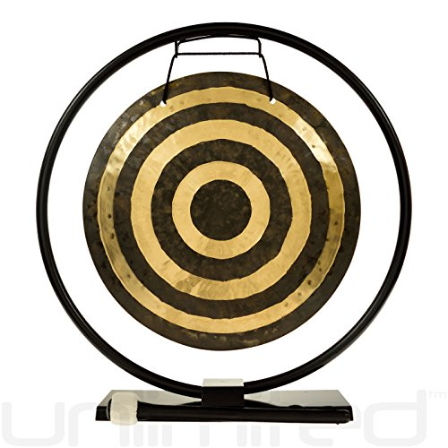14″ Solar Flare Gong on Au Courant Gong Stand