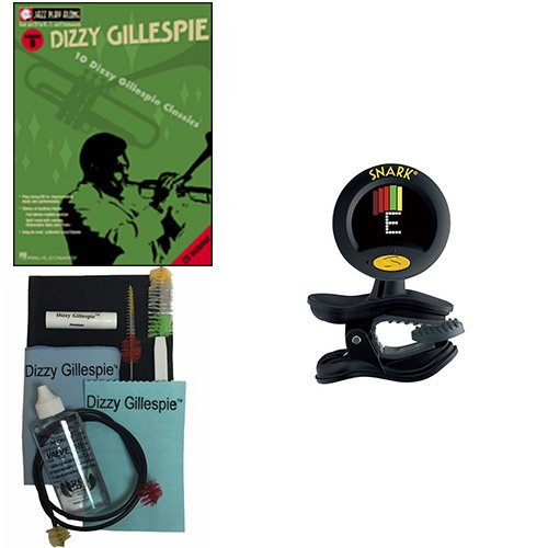 Dizzy Gillespie, Play-Along Book w/Bonus Dizzy Gillespie Paramount Series Silver Bugle Care & Cleaning Kit Deluxe w/Snark SN8 Super Tight Tuner