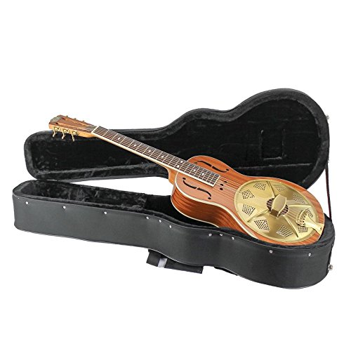 Royall Resonators Mahogany Parlor Size Resonator Guitar with Gold Hardware & Case