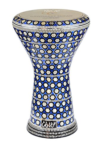 17″ New Gawharet El Fan Egyptian Doumbek, Darbuka # 201 by NileCart