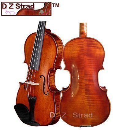 D Z Strad Violin Song Model with Case and D Z Strad Bow- Full Size 4/4 Stradivarius Factory Direct High-Grade Student Violin