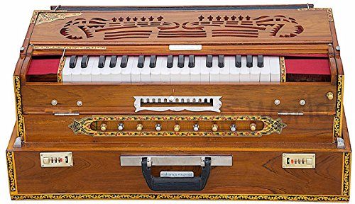 STYLISH EXCLUSIVE FOLDING TEAK WOOD 13 SCALE CHANGER HARMONIUM MI 0114