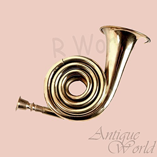 Antiques World Unique Multi Loops Bugle With MIlitary-Style French Horn AWUSAMI 0121