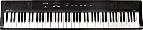 Williams Legato 88-Key Home Digital Piano with Power Supply and Sustain Pedal – Satin Black