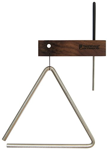 TreeWorks Chimes TRE-HS08 Made in USA Solid Steel 8″ Studio-Grade Triangle with Beater and Holder (VIDEO)