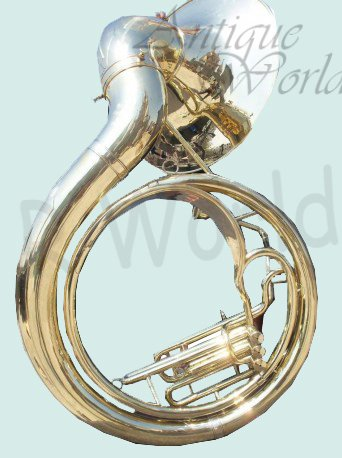 Antiques World Bright Vibrant Sound With Big Sousaphone 24″ Made Of Brass Gold Color AWUSAMI 0136